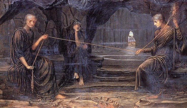 Risultati immagini per John Strudwick, A Golden Thread (Un filo prezioso), 1885 (olio su tela)